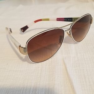 Coach aviator gold/white sunglasses